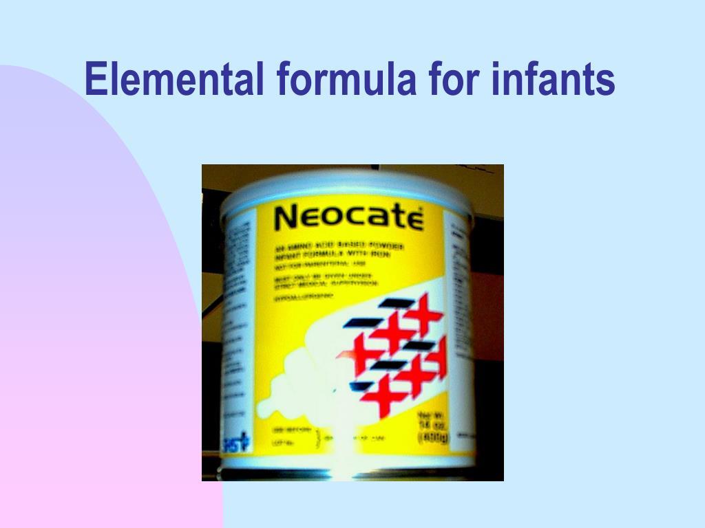 Elemental formula for infants