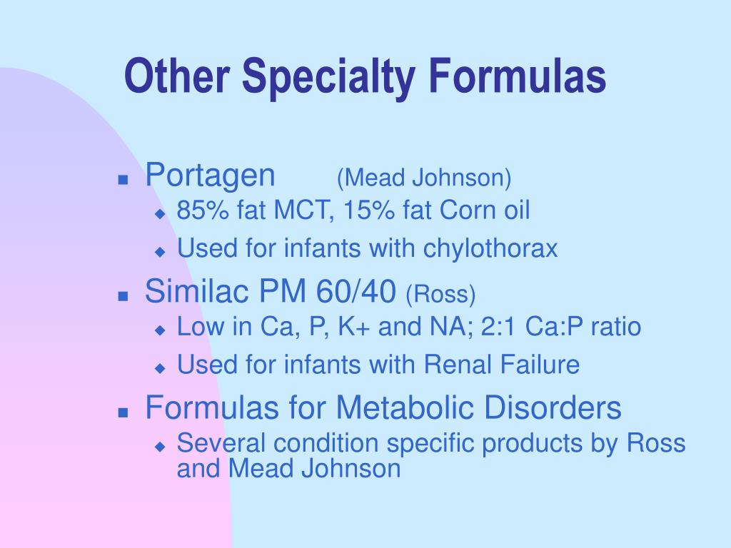 Other Specialty Formulas