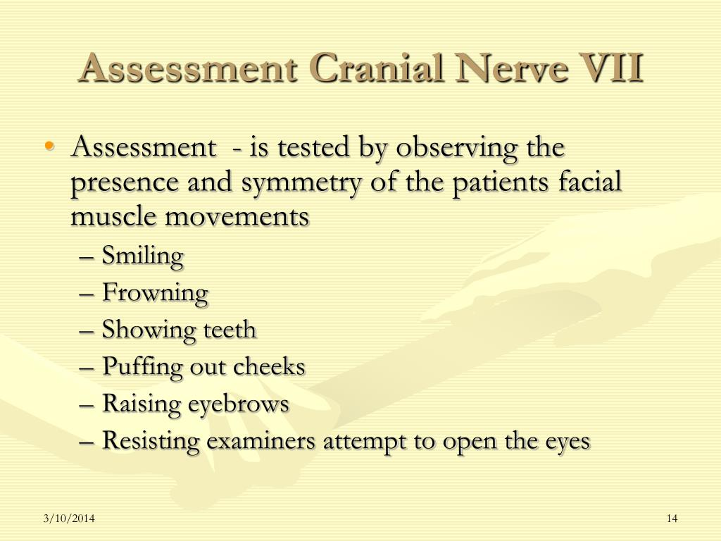 Assessment Cranial Nerve VII