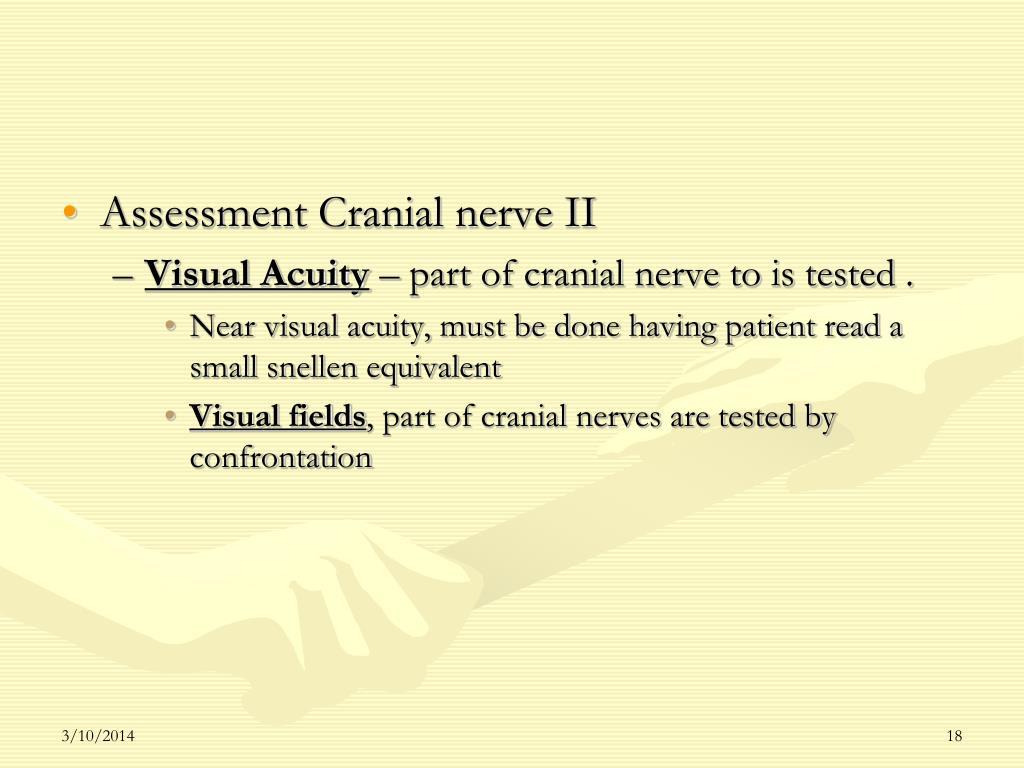 Assessment Cranial nerve II
