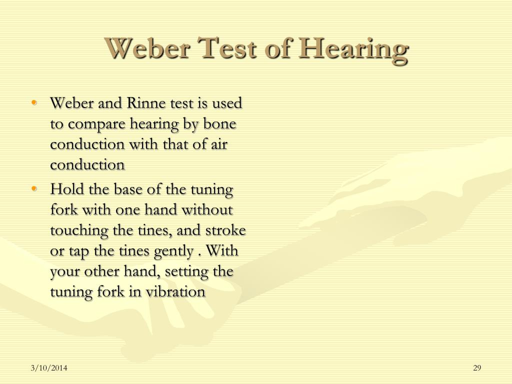 Weber Test of Hearing