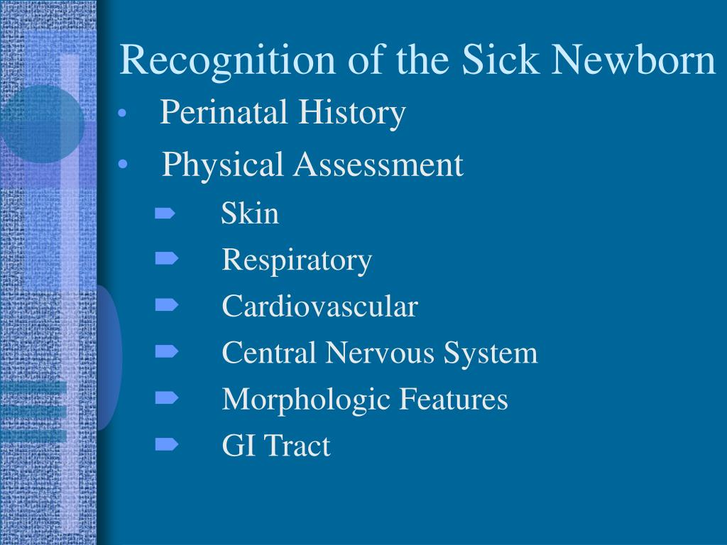 Recognition of the Sick Newborn