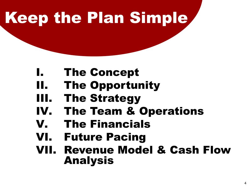 Keep the Plan Simple