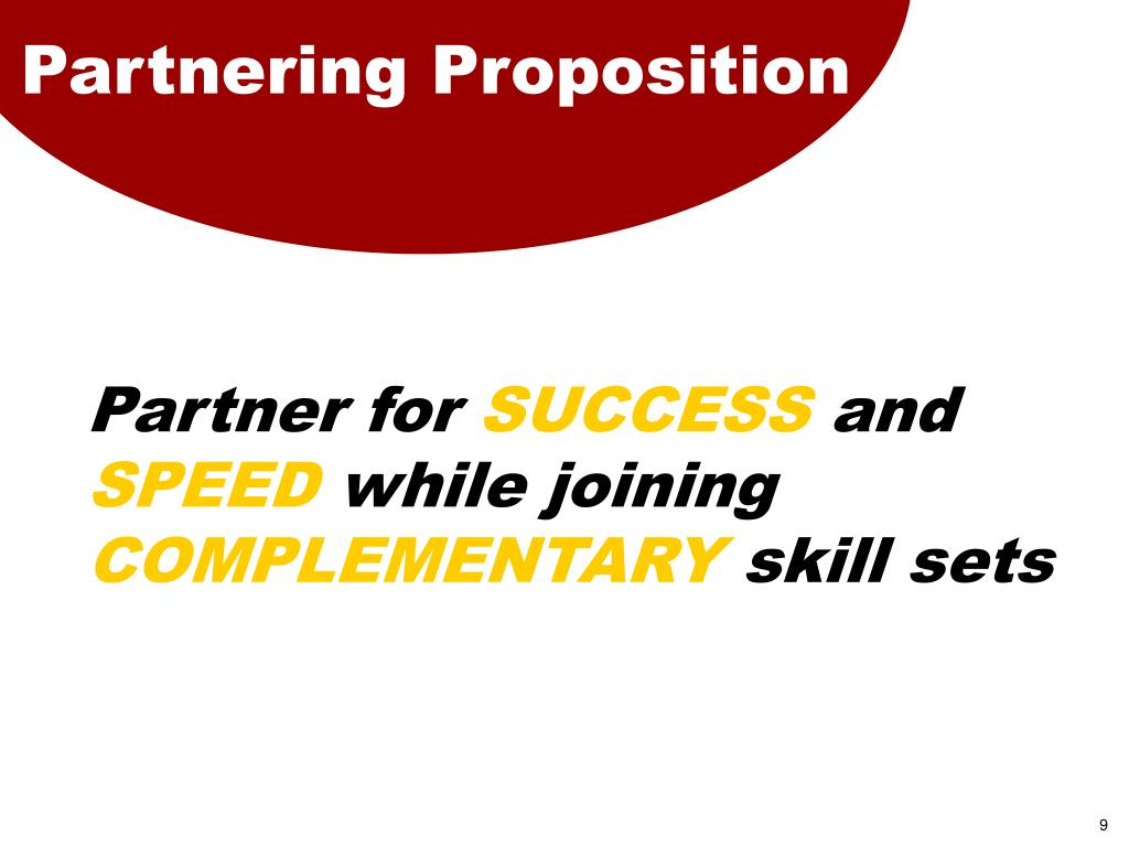 Partnering Proposition