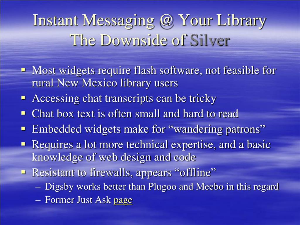 Instant Messaging @ Your Library