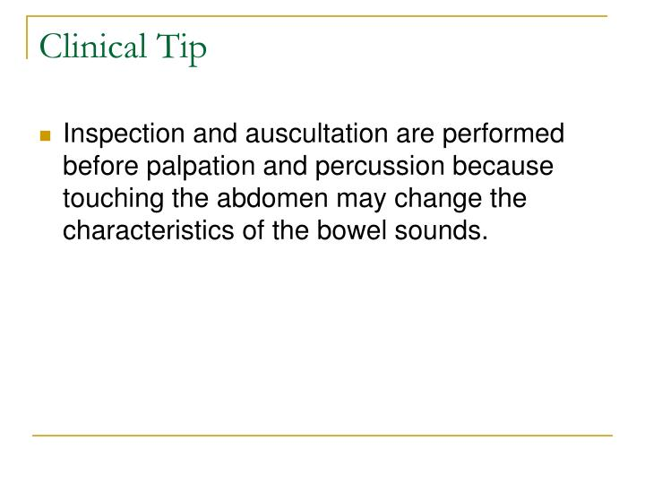 Clinical Tip