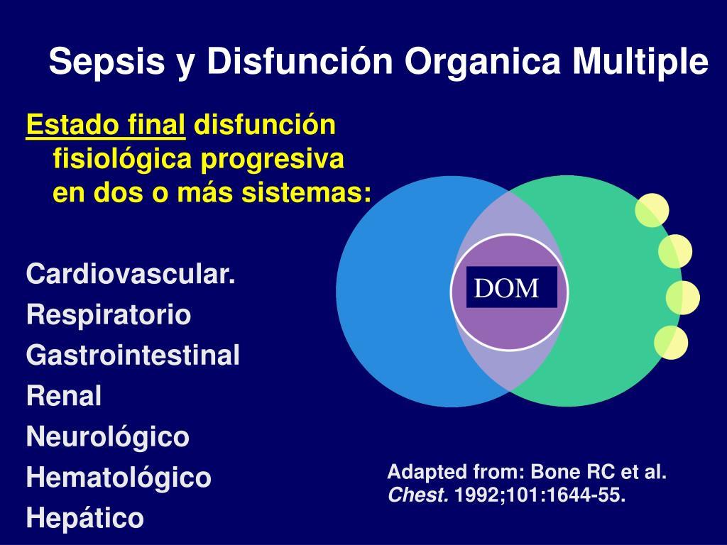 Sepsis y Disfunción Organica Multiple