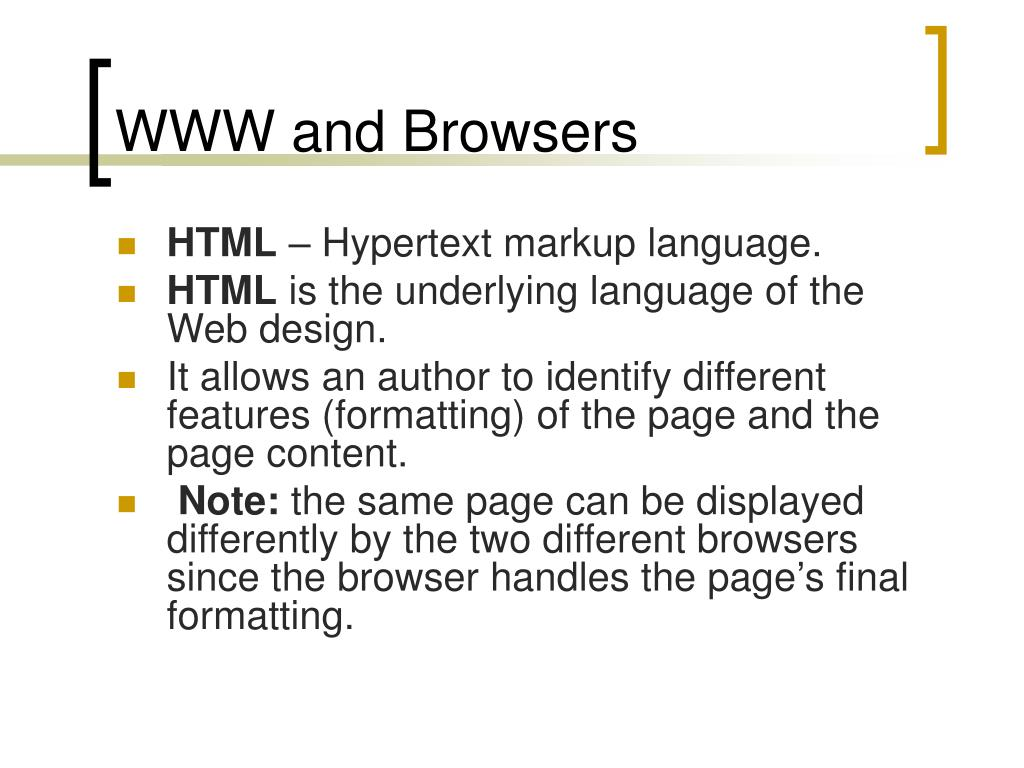 WWW and Browsers