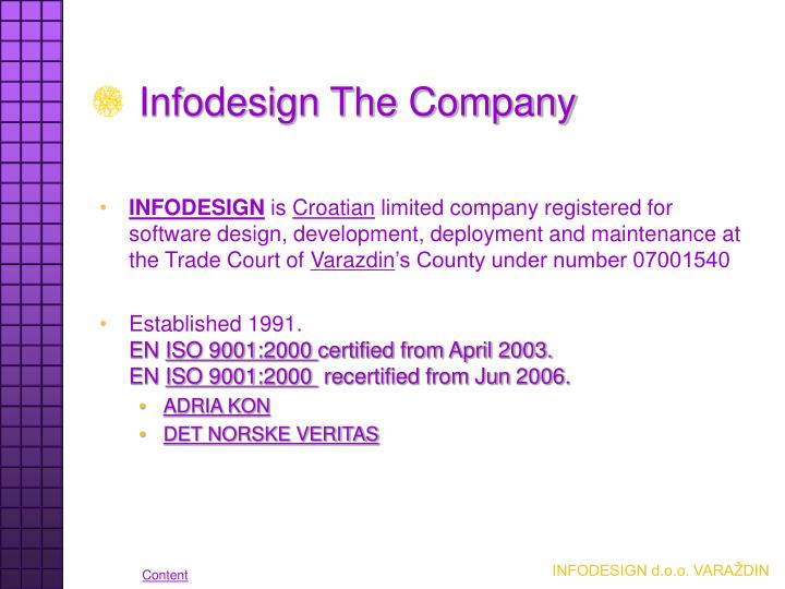 Infodesign the company