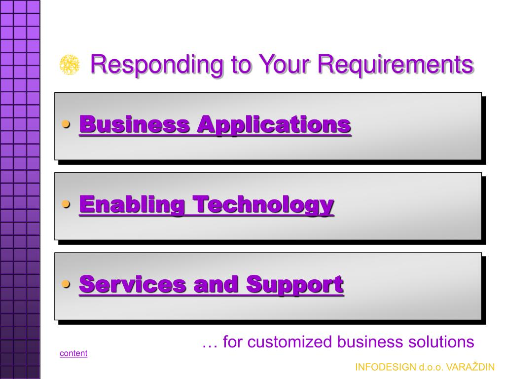Responding to Your Requirements