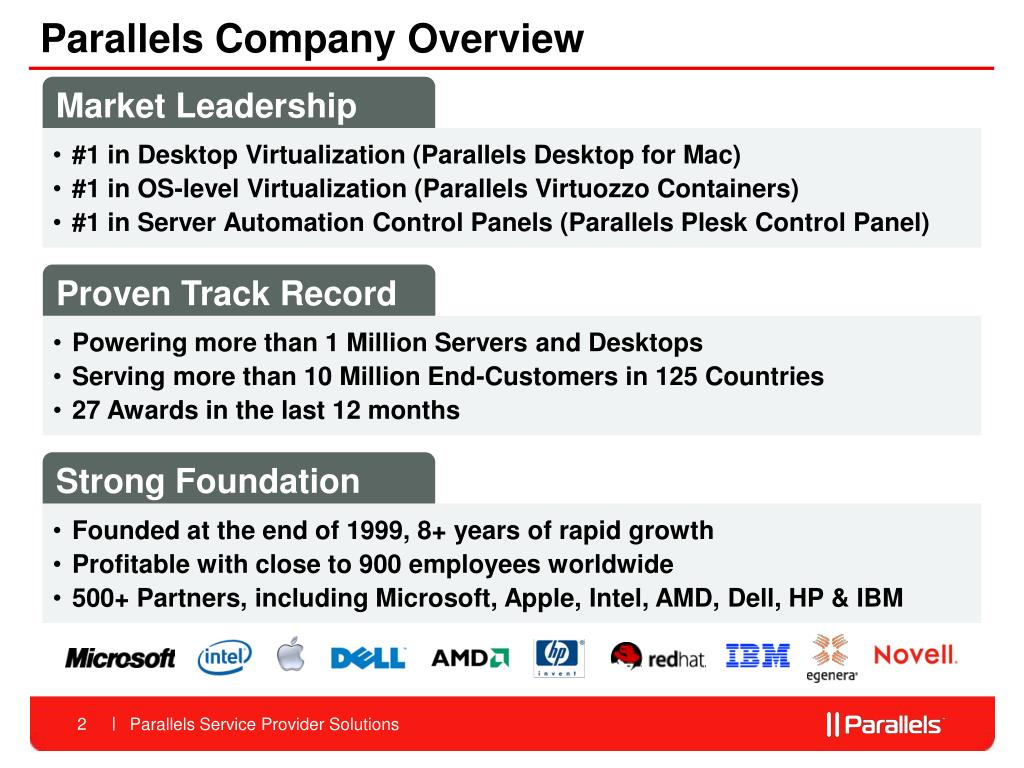 Parallels Company Overview