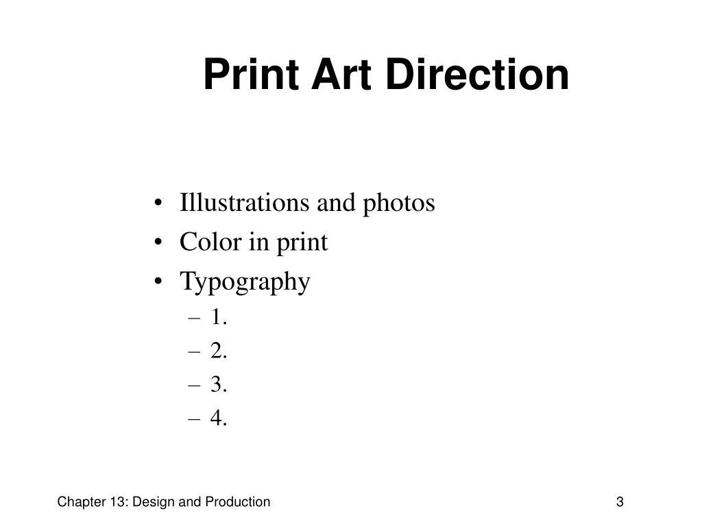 Print Art Direction