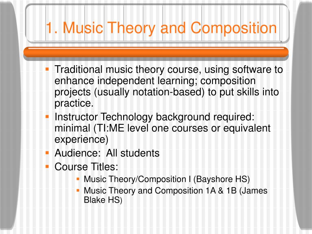 1. Music Theory and Composition