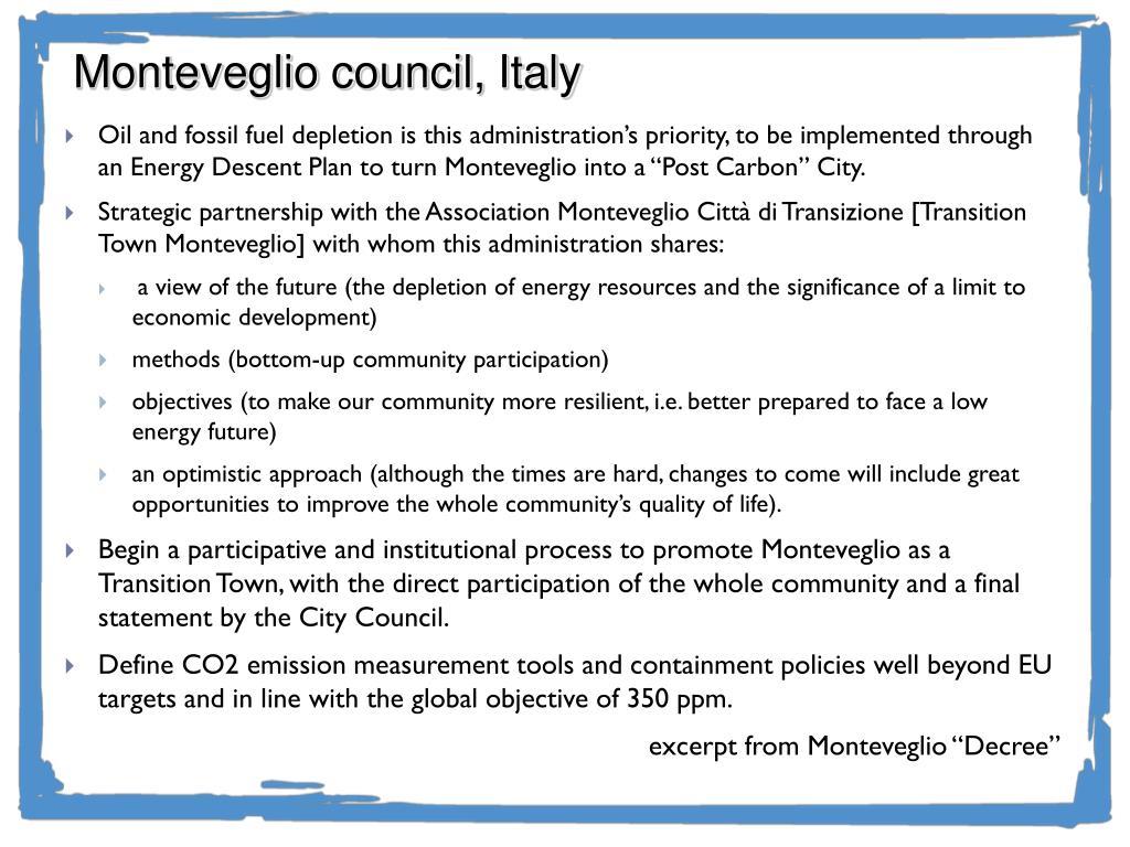 Monteveglio council, Italy