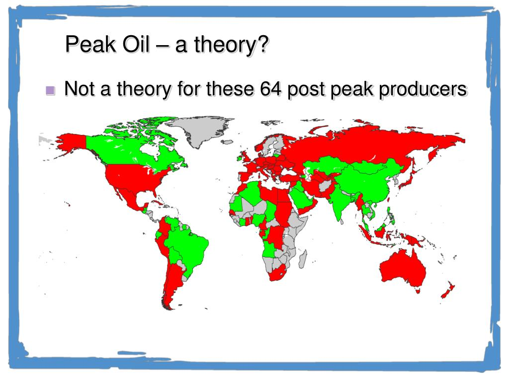 Peak Oil – a theory?