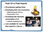 peak oil vs peak exports