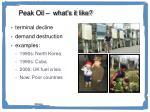 peak oil what s it like