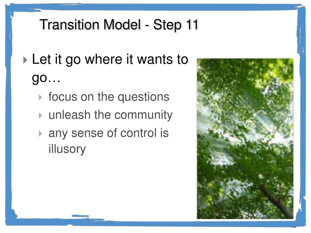 Transition Model - Step 11