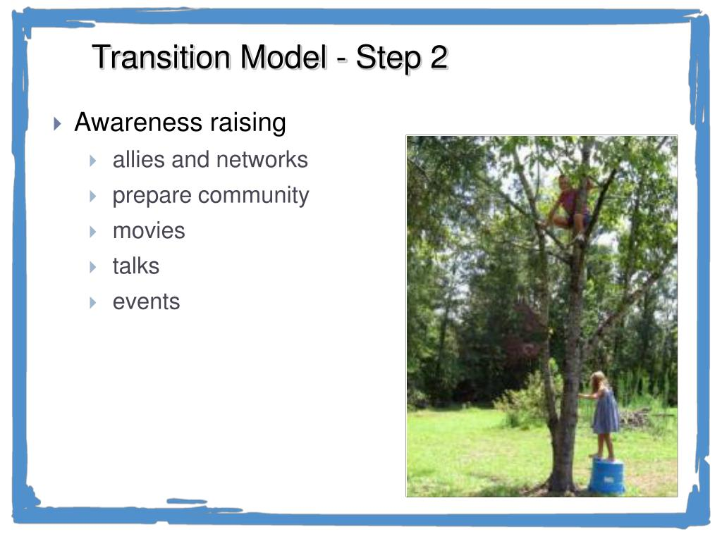 Transition Model - Step 2