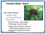 transition model step 6