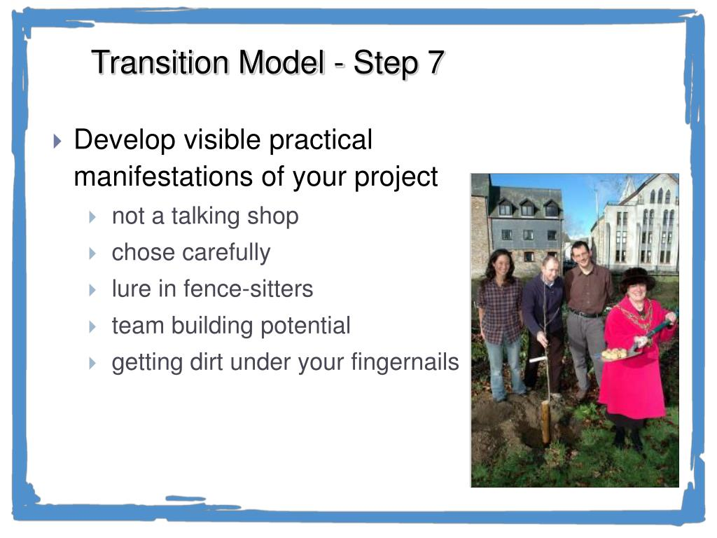 Transition Model - Step 7