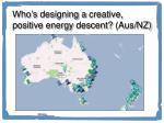 who s designing a creative positive energy descent aus nz