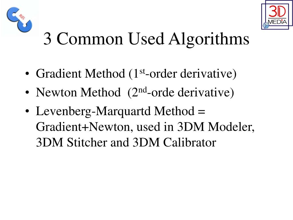 3 Common Used Algorithms