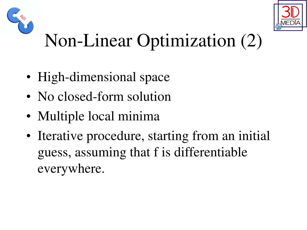 Non-Linear Optimization (2)