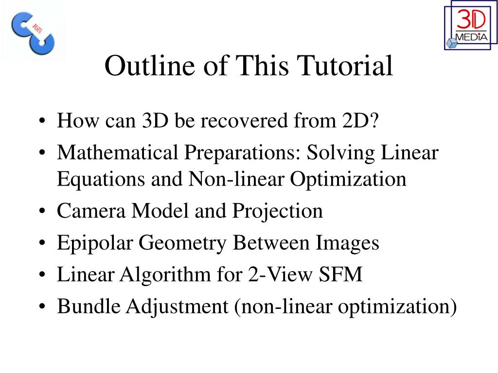 Outline of This Tutorial
