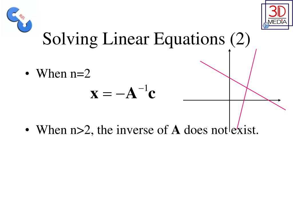 Solving Linear Equations (2)
