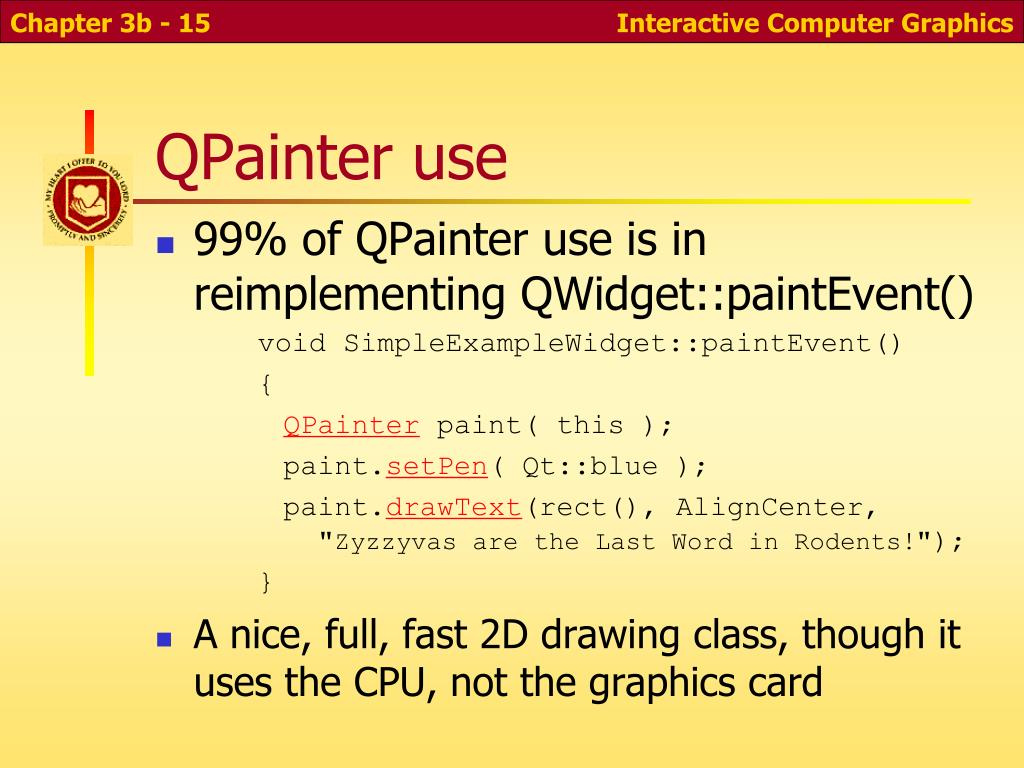 QPainter use