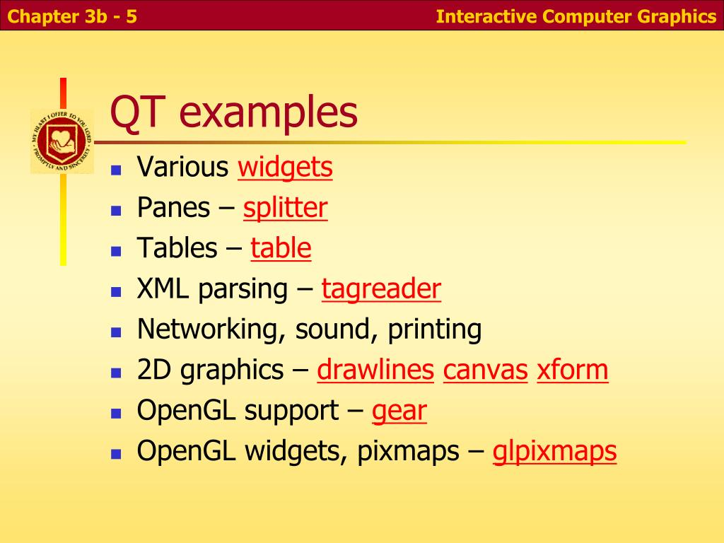 QT examples