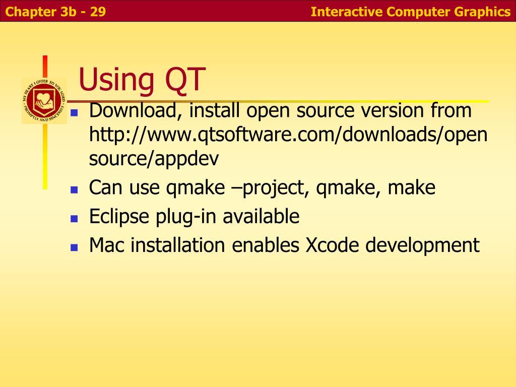 Using QT