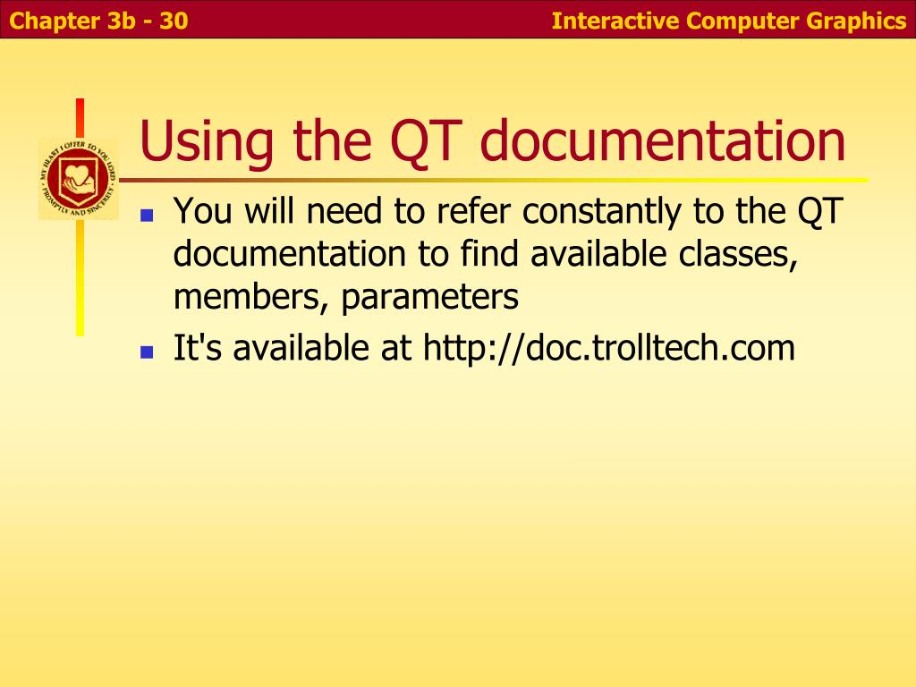 Using the QT documentation