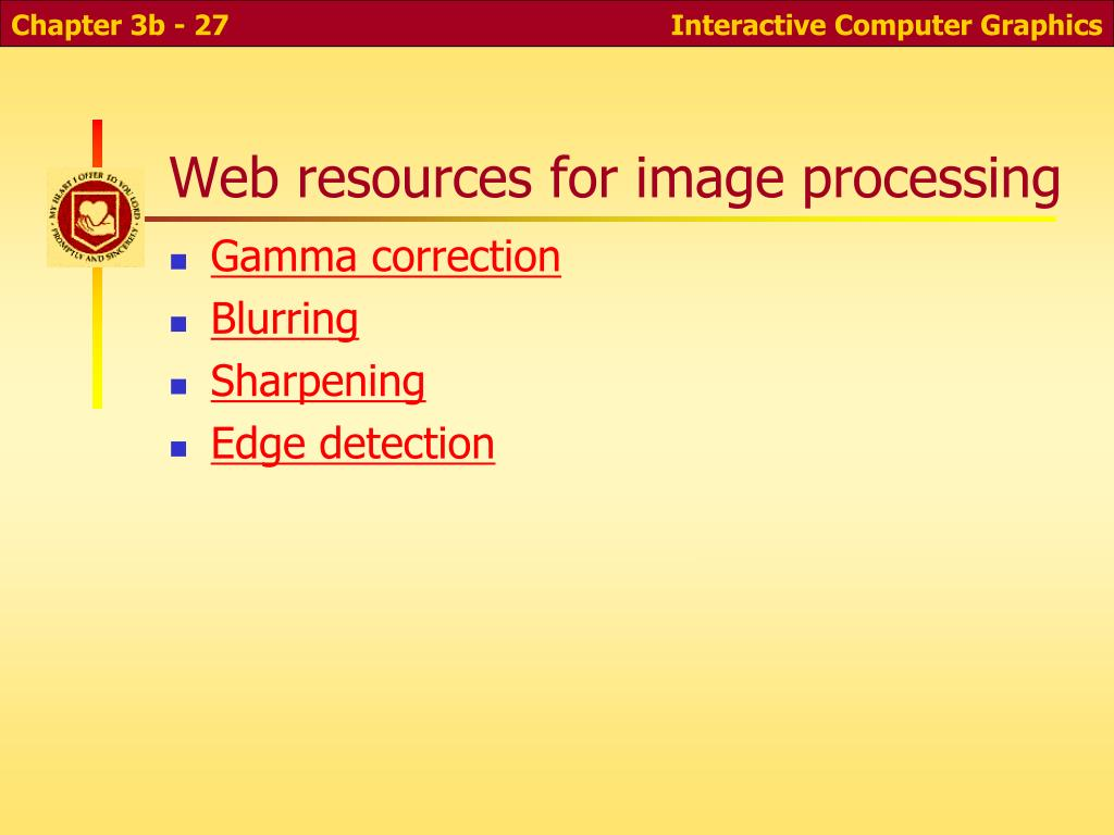 Web resources for image processing