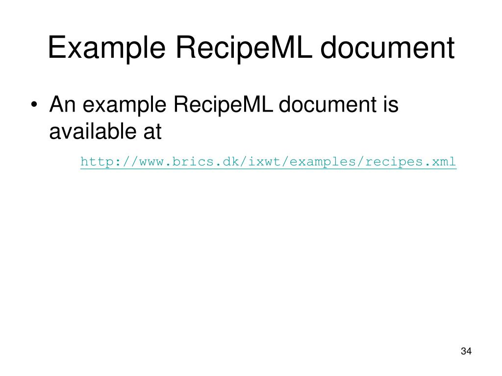Example RecipeML document
