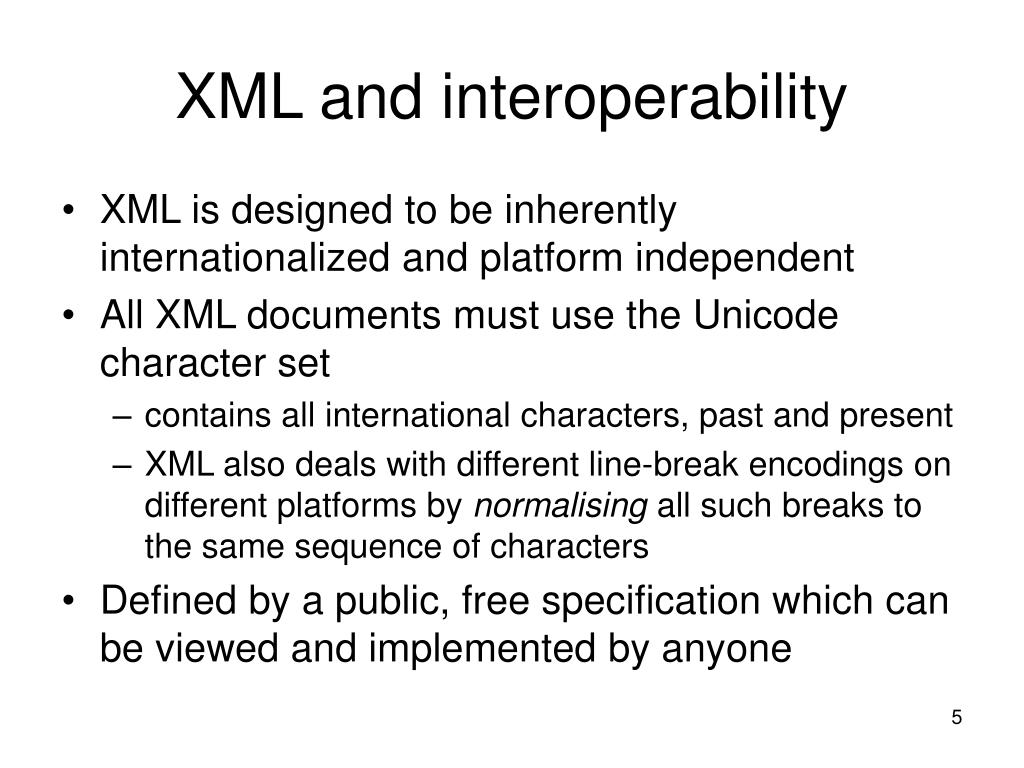 XML and interoperability