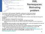 xml namespaces motivating problem