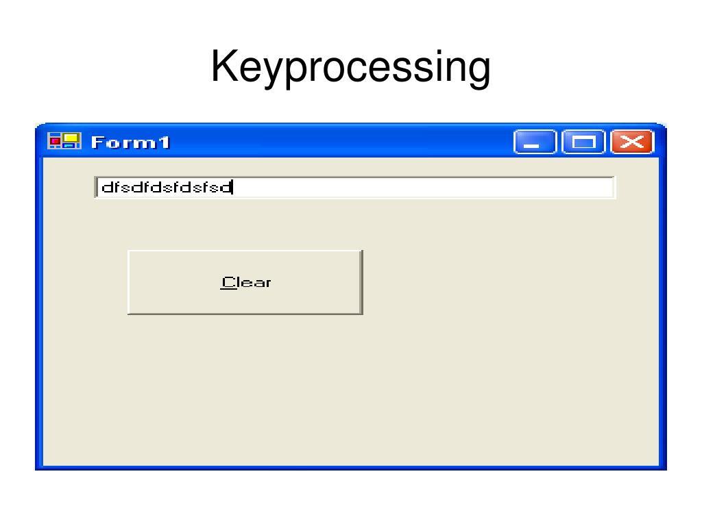 Keyprocessing