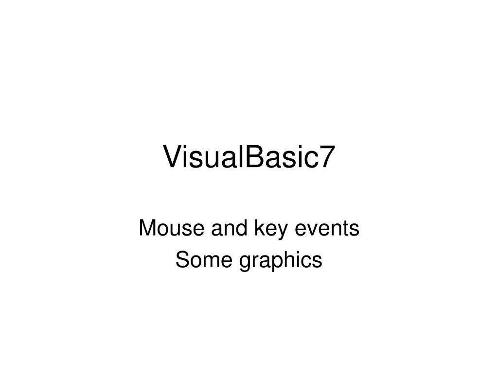 VisualBasic7