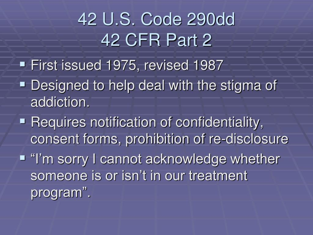 42 U.S. Code 290dd