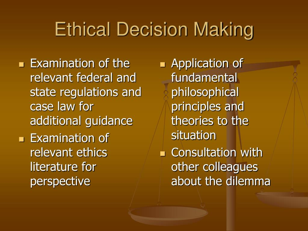 Examination of the relevant federal and state regulations and case law for additional guidance
