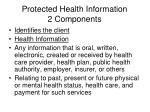 protected health information 2 components