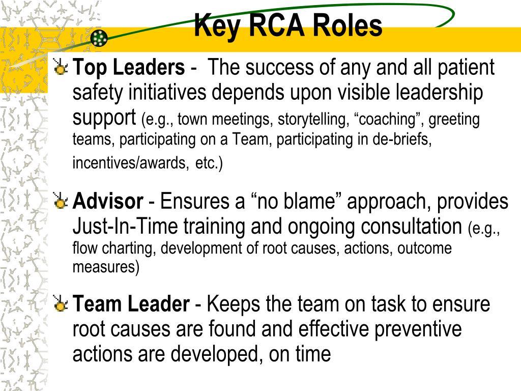 Key RCA Roles