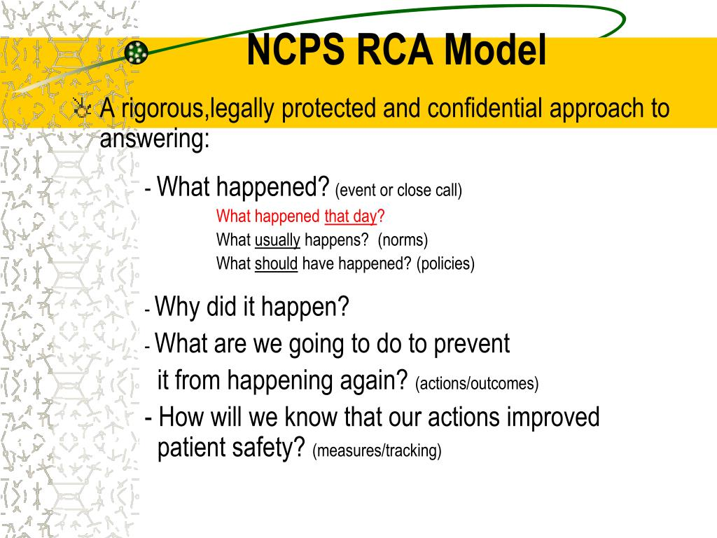 NCPS RCA Model