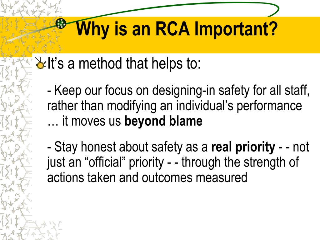 Why is an RCA Important?