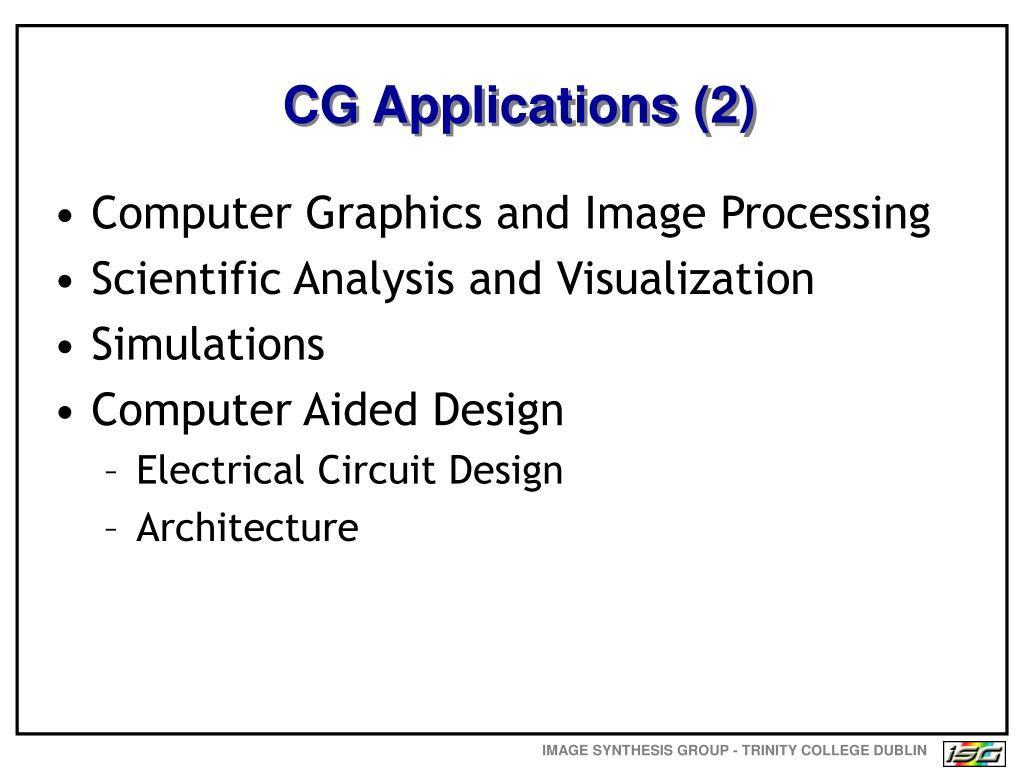 CG Applications (2)