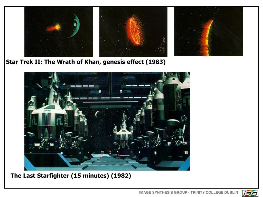 Star Trek II: The Wrath of Khan, genesis effect (1983)