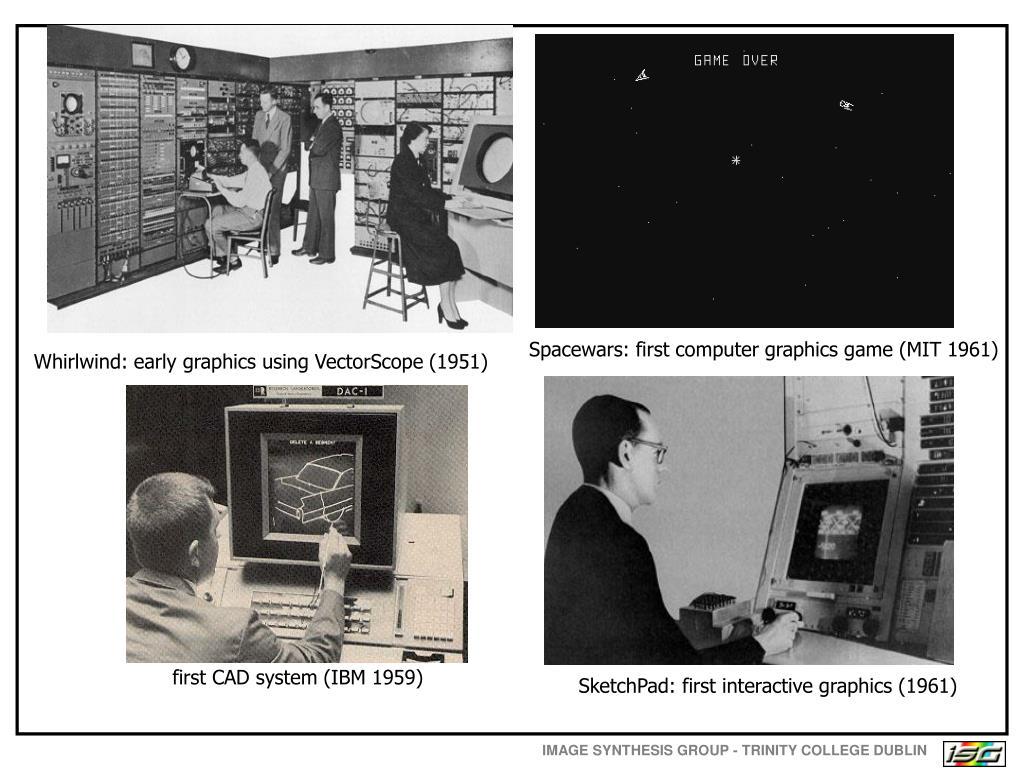 Spacewars: first computer graphics game (MIT 1961)