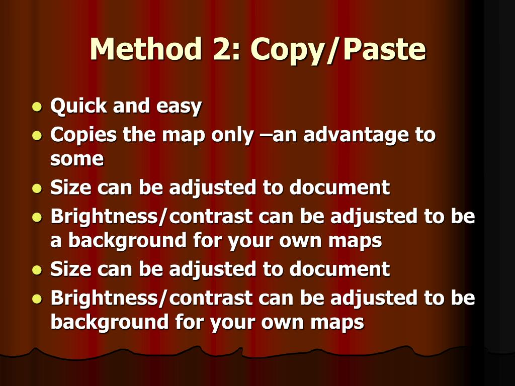 Method 2: Copy/Paste